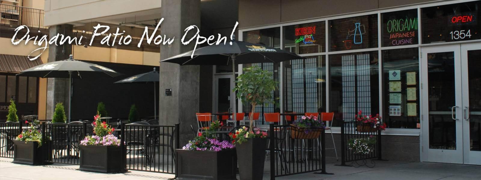 Patio Is Now Open!