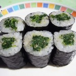 POPEYE ROLL -- Spinach Goma Dare Roll (6 pieces) ... $5.00