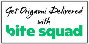 Get Origami Delivered With Bitesquad